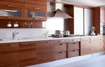 braune Küchenschrank Einrichtung