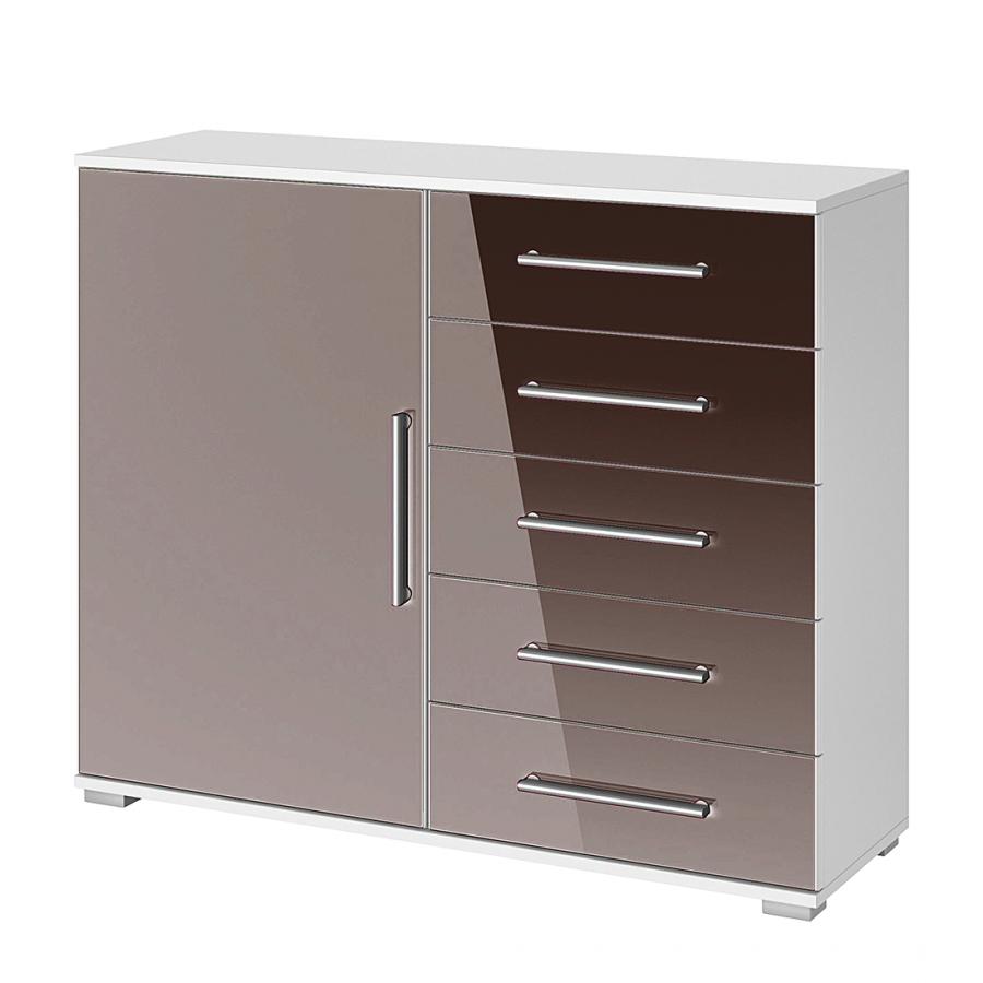 kommode quadra i alpinwei hochglanz lavagrau. Black Bedroom Furniture Sets. Home Design Ideas