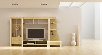 Anbauwand bzw Schrankwand im Wohnzimmer