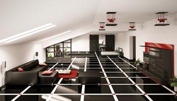 Wandschrank in modernen Wohnzimmer